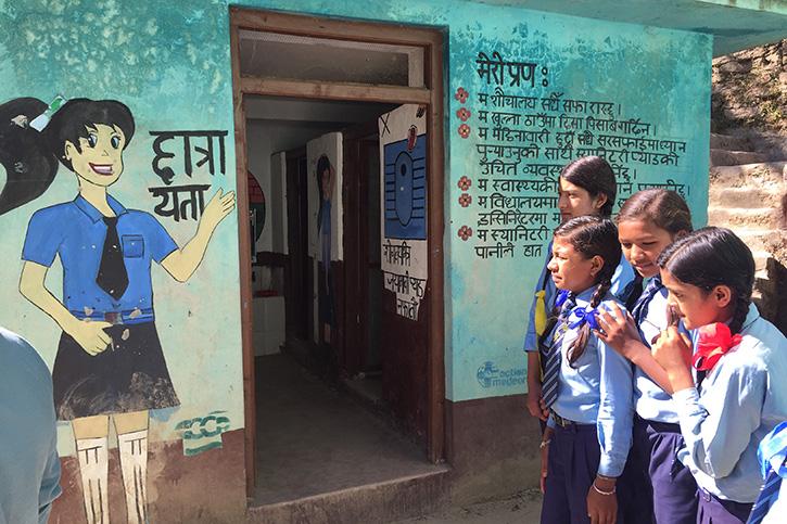 Schultoiletten in Nepal