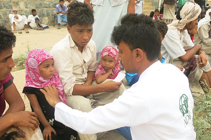Kinder im Jemen werden behandelt