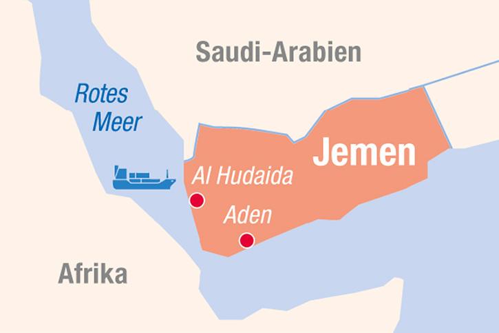 Landkarte Jemen