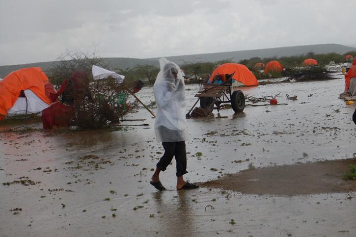 Provisorische Hütten in Somalia