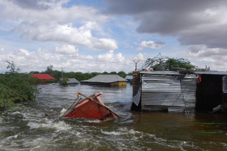 Dorf unter Wasser