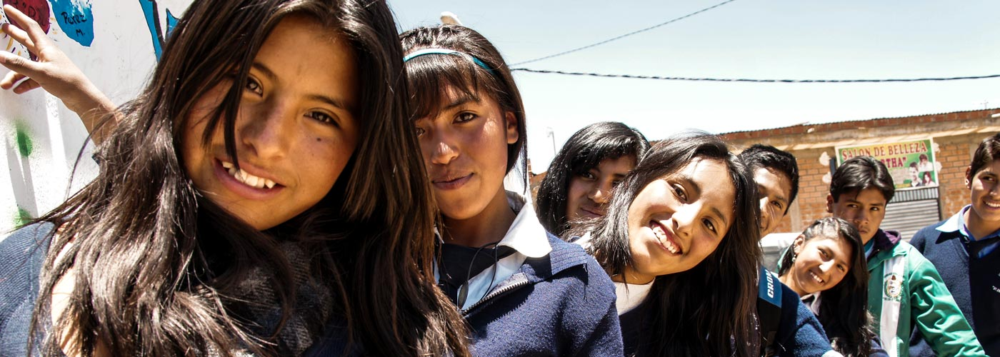 Young people from a school in Bolivia are participating in a project to prevent gender-based violence.