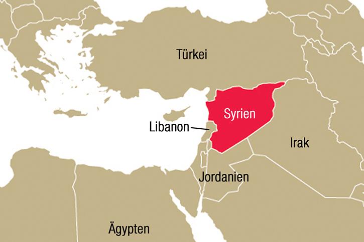 Karte Syrien
