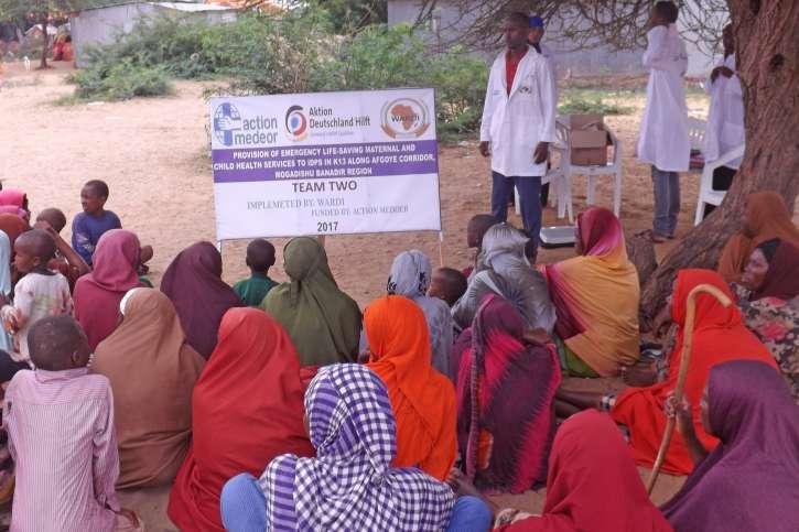 Schulung für Campbewohner in Somalia