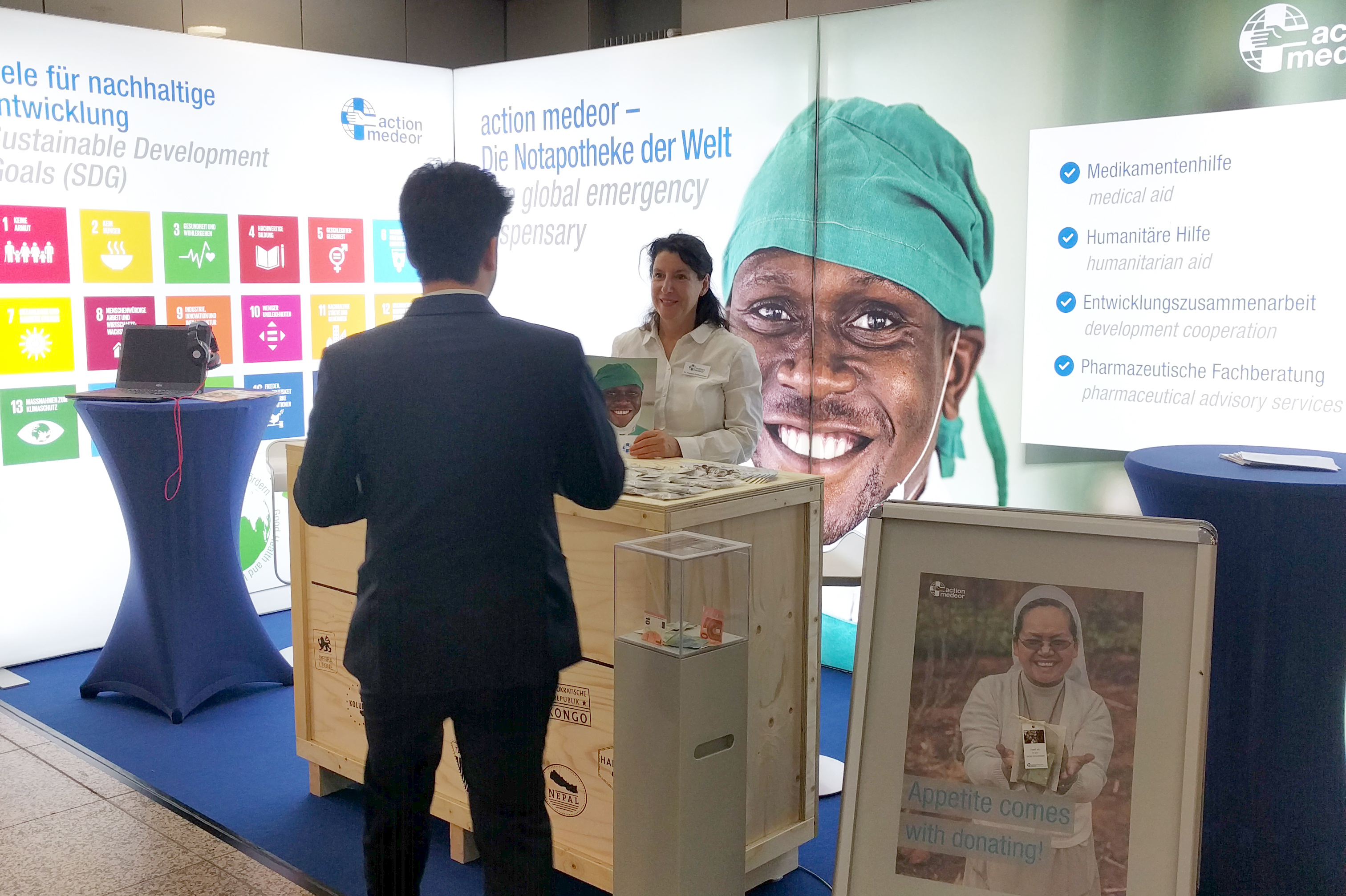 action medeor at the Medica in 2018