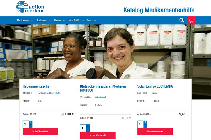 action medeor Catalogue en ligne