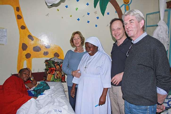 Hanni von Kameke zu Besuch im Krankenhaus.