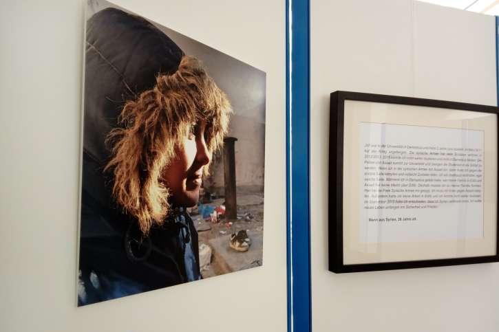 Foto einer geflüchteten Frau