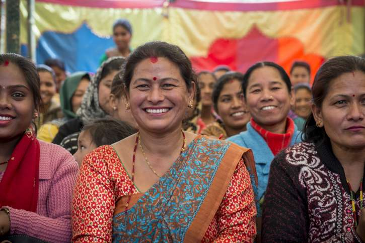 action medeor in Nepal beim Internationalen Weltfrauentag