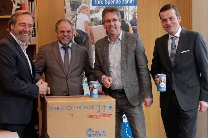 Harald Feit, Bernd Pastors, Michael Radau und Dr. Peter Achten gaben den Startschuss zur Kampagne.
