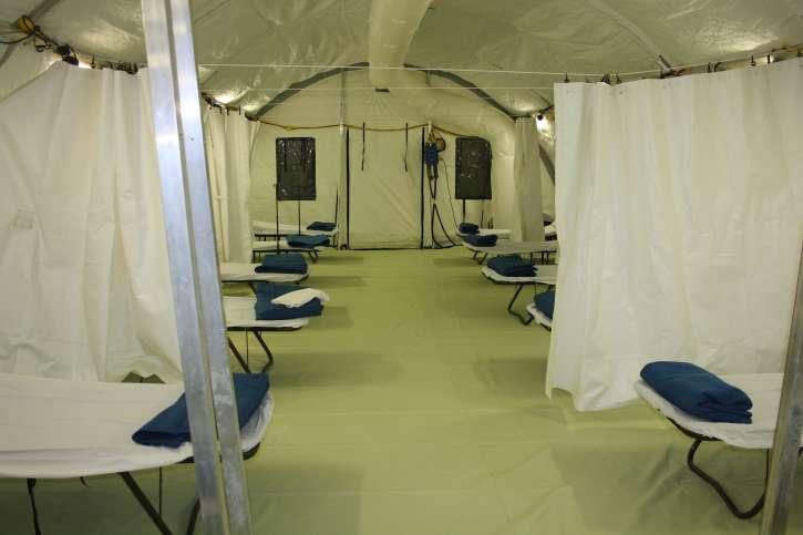 Einblick in die neue Isolierstation auf dem Gelände der Gerlib Clinic in Monrovia
