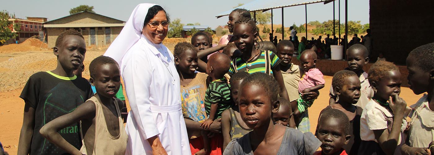 Im Krankenhaus von Schwester Gracy erhalten Menschen medizinische Hilfe und Zuwendung.